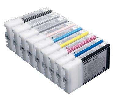Epson 220ml Ultrachrome K3 Ink Cartridge Full Set For Stylus Pro 7800 And 9800