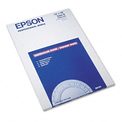 "Epson S041351 Watercolor Paper Radiant White 13"" x 19"" (20 sheets)"