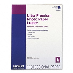 "Epson S042084 Ultra Premium Photo Paper Luster 17"" x 22"" 25 sheets"