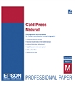 Epson S042300 Cold Press Natural Fine Art Paper, 13 x 19, 25 Sheets