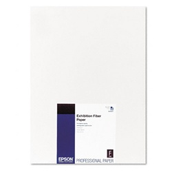 "Epson S045037 Exhibition Fiber Paper 13"" x 19"" 25 sheets"