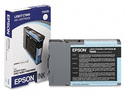 Epson T543500 110ml Light Cyan Ink for 4000, 7600 and 9600