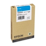 Epson T603200 220ml Cyan Ink Cartridge for 7800,7880,9800 and 9880