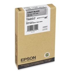Epson T603700 (T6037) 220ml Light Black Ink Cartridge for 7800,7880,9800 and 9880