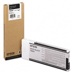 Epson T606100 220ml Photo Black Ink Cartridge for 4800 and 4880