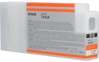 Epson T642A00 150ml Medium Orange Ink Cartridge for 7900 and 9900