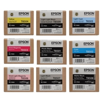 Epson 9-Ink T850 Full Set for SureColor P800 Printer