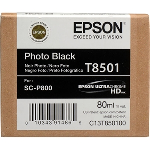 Epson T8501 80ml Photo Black Ink for SureColor P800