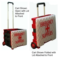 Large Folding Cart - Black Red