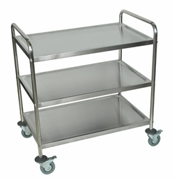 Stainless Steal Three Shelf Utility Cart