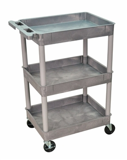 Gray Three Tub Utility Cart