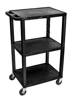 Three Black Shelf Multipurpose Cart