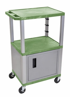 Light Green and Gray Multipurpose Cart with Cabinet