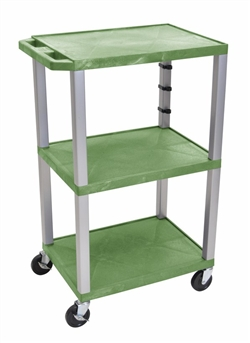 Green and Beige Three Shelf Cart