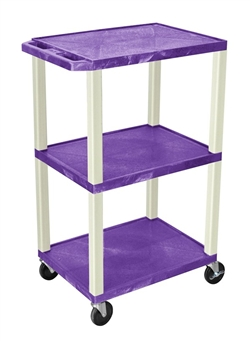 Purple and Beige Laminator Three Shelf Utility Cart
