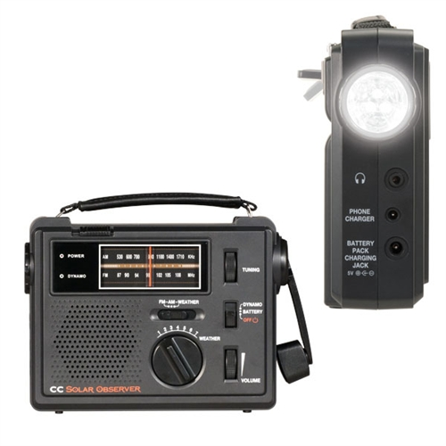CC Solar Observer Hand Crank And Emergency Radio