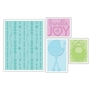 Sizzix Textured Impressions Embossing Folders 4PK - Baby Set
