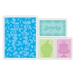 Sizzix Textured Impressions Embossing Folders 4PK - Birthday Surprise Set