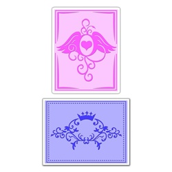 Sizzix Textured Impressions - Crown Flourish & Heart Wings Set by Beth Reames