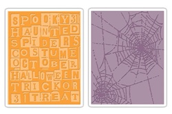 Sizzix olders 2PK - Halloween Words & Cobwebs