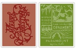 Sizzix Texture Fades Embossing Folders 2PK - Merry Christmas & Vintage Holiday by Tim Holtz