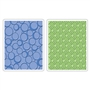 Sizzix Textured Impressions Embossing Folders 2PK - Circles & Dots Set