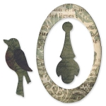 Sizzix Originals Die - Oval Frame, Bird & Pendant by Rachel Bright SZ657019