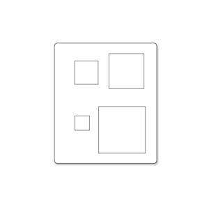 **DISCONTINUED**Sizzix Originals Die - Squares #3 SZ657027
