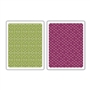 Sizzix Textured Impressions Embossing Folders 2PK - Diamonds & Snow Cap Set