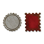 Sizzix Movers & Shapers Magnetic Die Set 2PK - Mini Bottle Cap & Stamp by Tim Holtz SZ658559