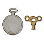 Sizzix Movers & Shapers Magnetic Die Set 2PK - Mini Clock Key & Pocket Watch by Tim Holtz SZ658561