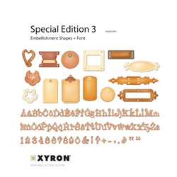 XRN 23407: Xyron Personal Cutting System Embellishment Shapes and Font