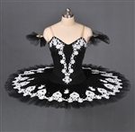 Ballet performance tutu -- Perfomance quality in black with white trim