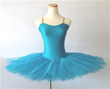Ballet performance tutu -- Turquoise blue performance tutu adult size