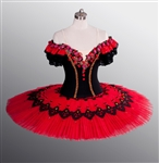 Ballet performance tutu -- Performance quality -- Red/Black