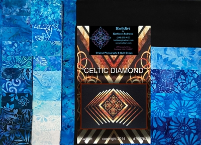 Celtic Diamond Quilt Kit-Blue