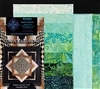 Convex Illusions & Poppin In Quilt Kit-Green Turquoise