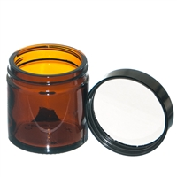 60ml Amber Jar with black PE lined screw on lid