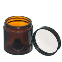 120ml Amber Jar with black PE lined screw on lid