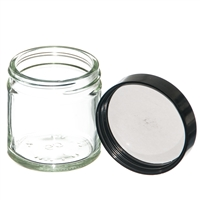 60ml Clear Jar with black PE lined screw on lid