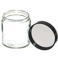 120ml Clear Jar with black PE lined screw on lid