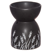 Black Ceramic Grass Oil Burner