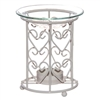 White Metal Heart Oil Burner