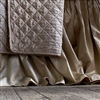 Chloe 3-Panel 22x86 Gathered Champagne Velvet Bed Skirt