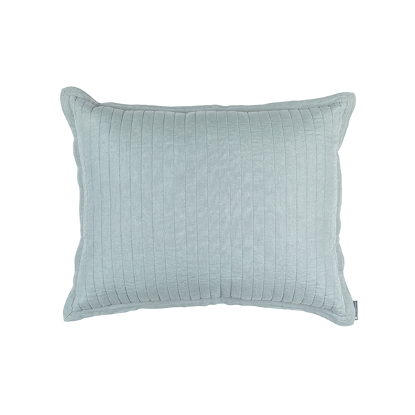 TESSA QUILTED STANDARD PILLOW SKY LINEN 20X26 (INSERT INCLUDED)