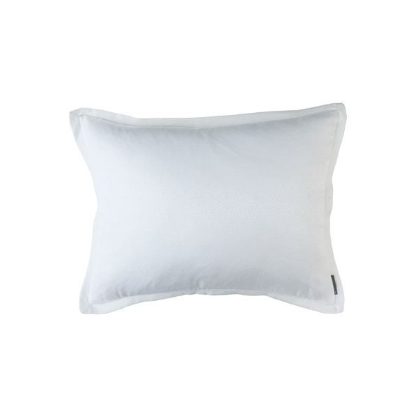 Gia Ivory Cotton & Silk 20x26 Standard Pillow