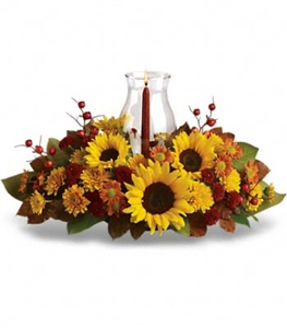 Sunflower Hurricane Centerpiece