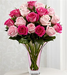 Mixed Pink Rose Bouquet