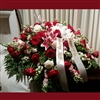 Stargazer Lily & Rose Casket Spray