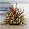 Fireside Basket with Sunflowers
